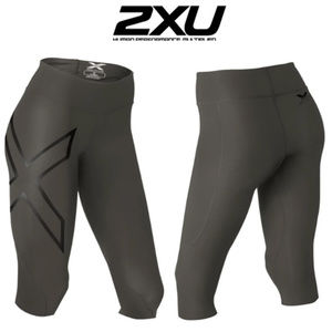 New 2xu Hyoptik mid rise compression 3/4 tights